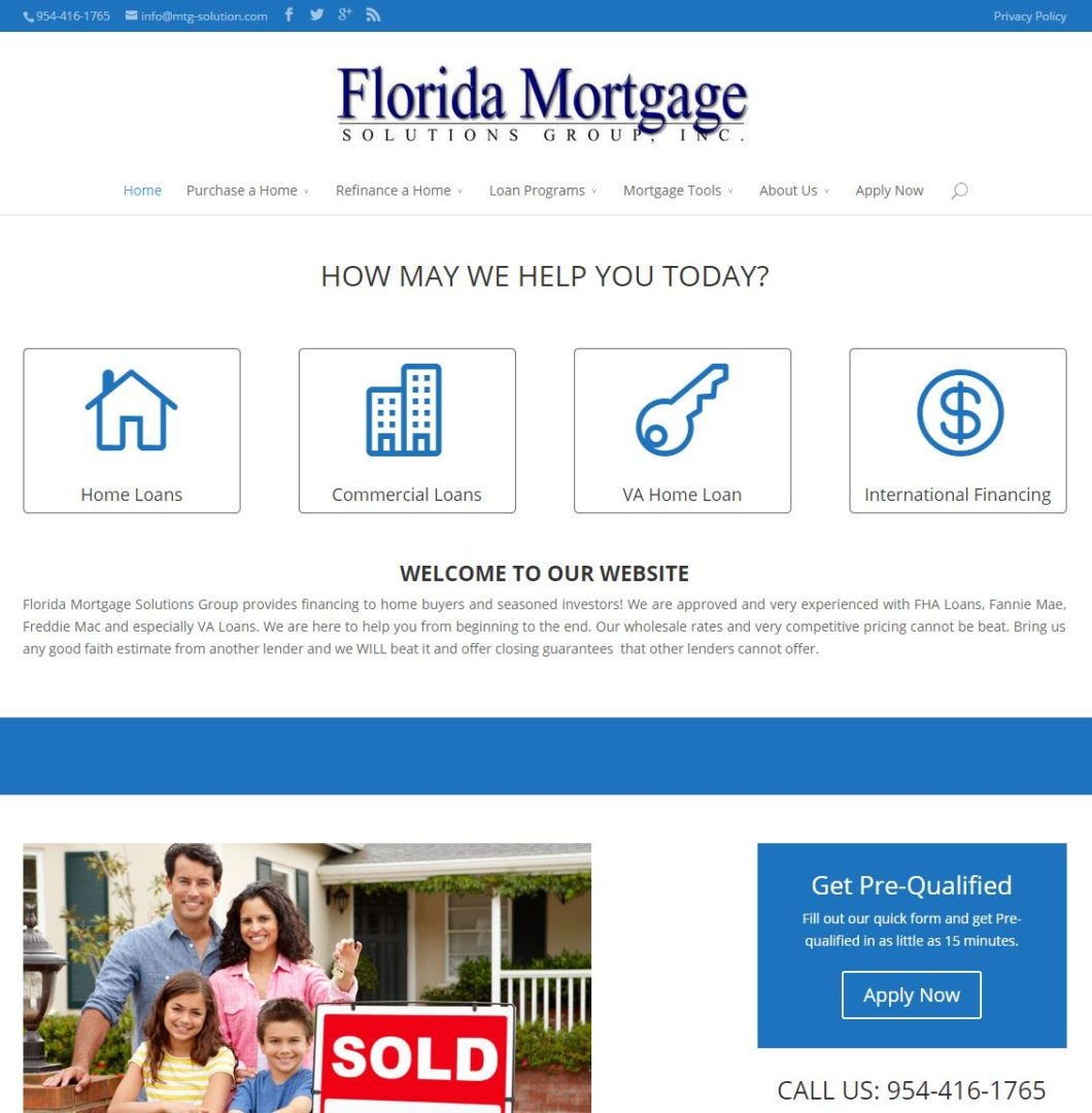 Florida Mortgage Solution Home Page